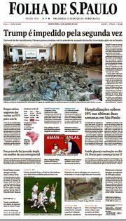 Capa do Jornal Folha de S. Paulo Edição 2021-01-14
