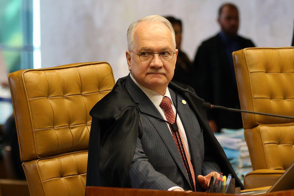 O ministro do Supremo Tribunal Federal (STF) Edson Fachin durante sessão plenária.