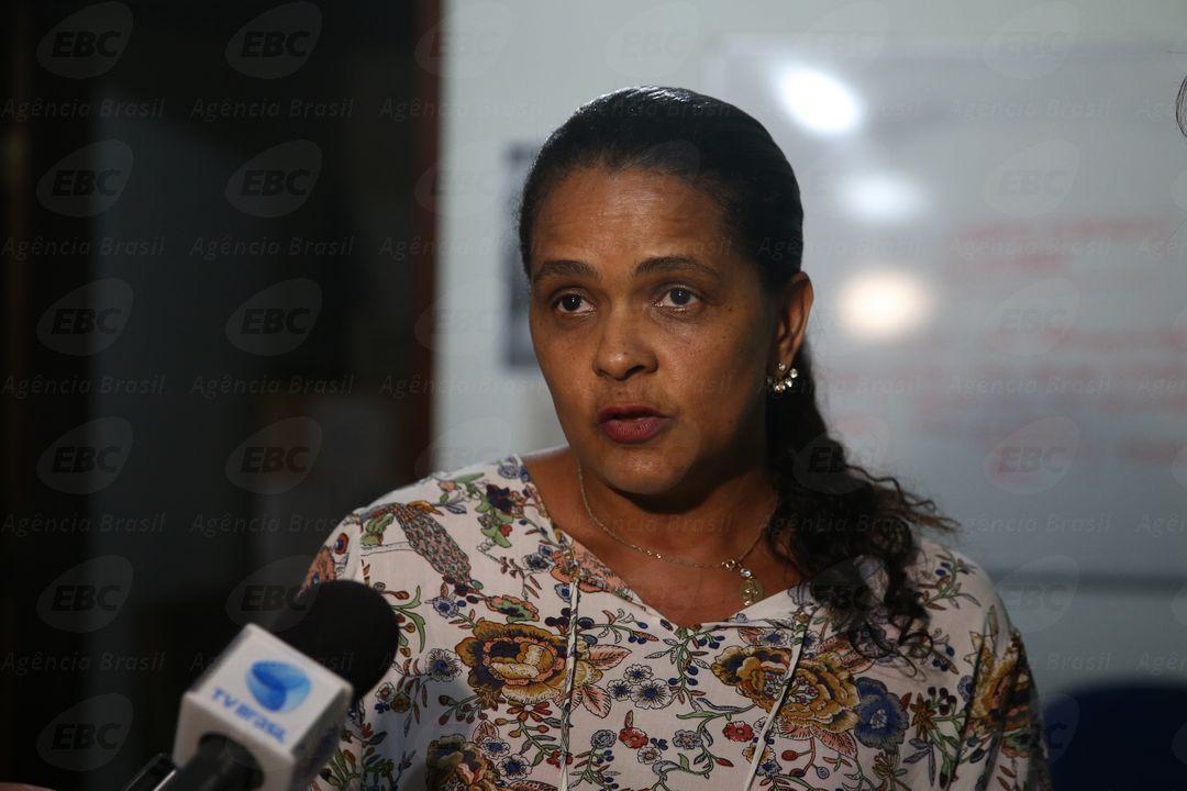 Mariana (MG) - Marlene Agostinho Filho durante reunião da Comissão de Atingidos, dois anos após a tragédia do rompimento da Barragem de Fundão, da mineradora Samarco (José Cruz/Agência Brasil)