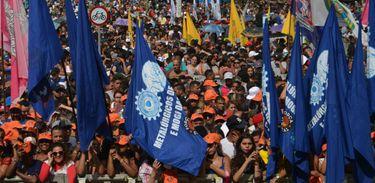 Ato da Força Sindical no Dia do Trabalhador pede geração de empregos
