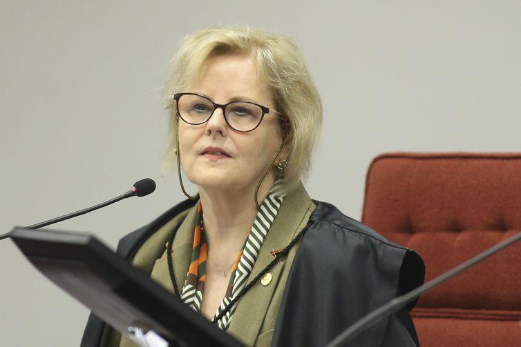 A ministra do Supremo Tribunal Federal (STF), Rosa Weber, durante a segunda e última audiência pública sobre descriminalização do aborto.