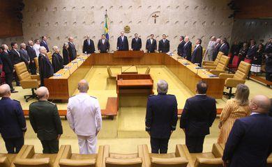 Sessão de abertura do ano legislativo do STF