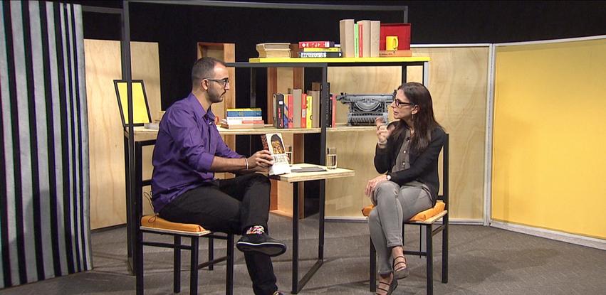 Raphael Montes recebe a historiadora Lilia Schwarcz