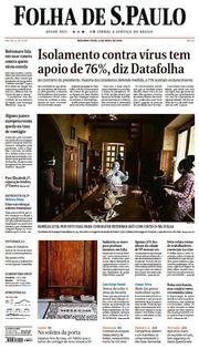 Capa do Jornal Folha de S. Paulo Edição 2020-04-06
