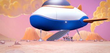 Astrobaldo e seus amigos chegam ao planeta Vênus