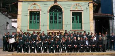 Banda Euterpe Friburguense, uma das bandas apresentadas no programa Encontro de Bandas, de 1993