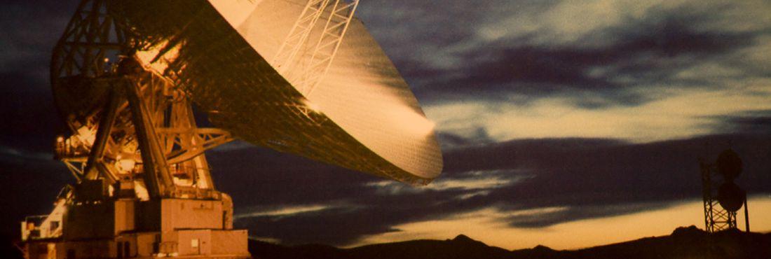 Antena de satélite.