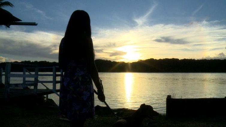 Pôr do sol em Oiapoque