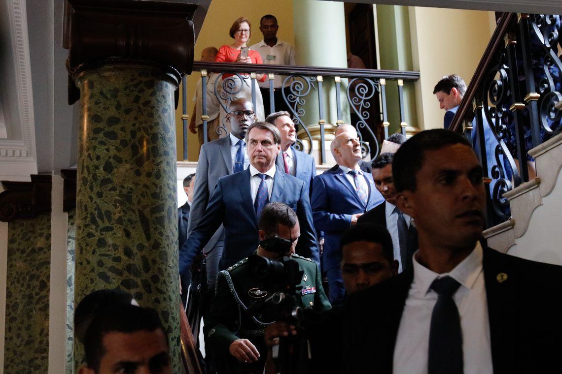 O presidente da República, Jair Bolsonaro, se encontra com o prefeito Marcelo Crivella no Palácio da Cidade