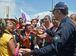 Brasília - Manifestantes acampados no gramado do Congresso Nacional e integrantes da Marcha das Mulheres Negras entram em confronto (Marcello Casal /Agência Brasil)