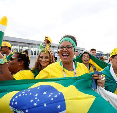 Torcedor brasileiro na Rússia