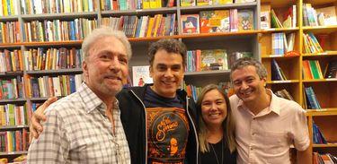 Antônio Carlos Secchin, Renato Farias, Katy Navarro e André Pessôa