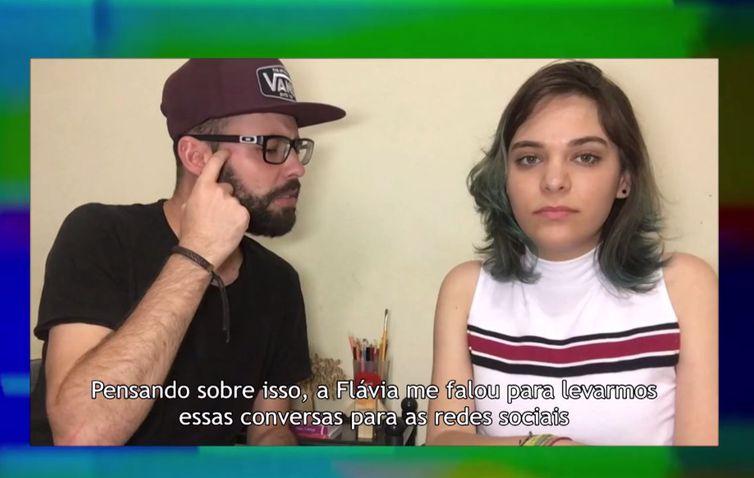Flávia e Bruno criaram o canal em 2016 discutindo relacionamentos