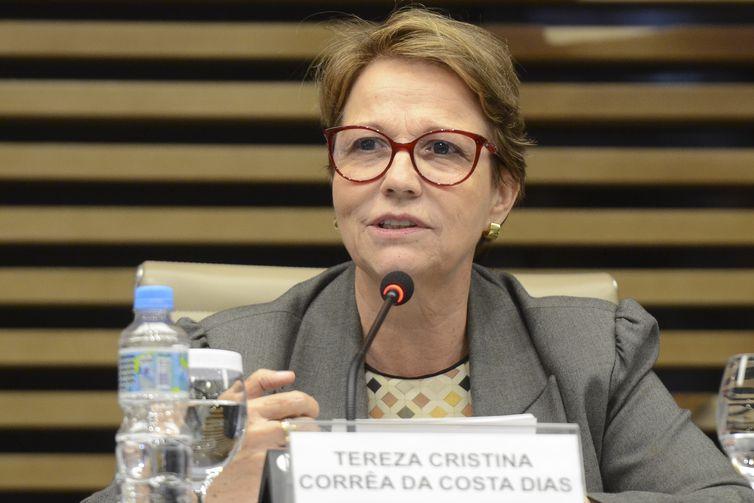 A ministra da Agricultura, Pecuária e Abastecimento, Tereza Cristina, participa de reunião do Conselho Superior do Agronegócio (Cosag), na Federação das Indústrias do Estado de São Paulo (Fiesp).