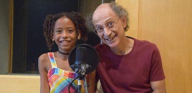 Betina Fonseca e Tim Rescala - apresentadores da nova temporada do Blim-blem-blom
