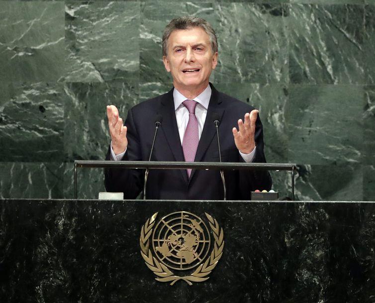 Presidente Maurício Macri fala na Assembleia Geral da ONU