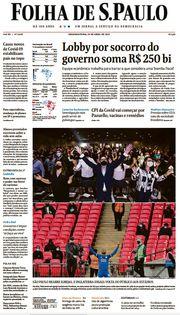 Capa do Jornal Folha de S. Paulo Edição 2021-04-19