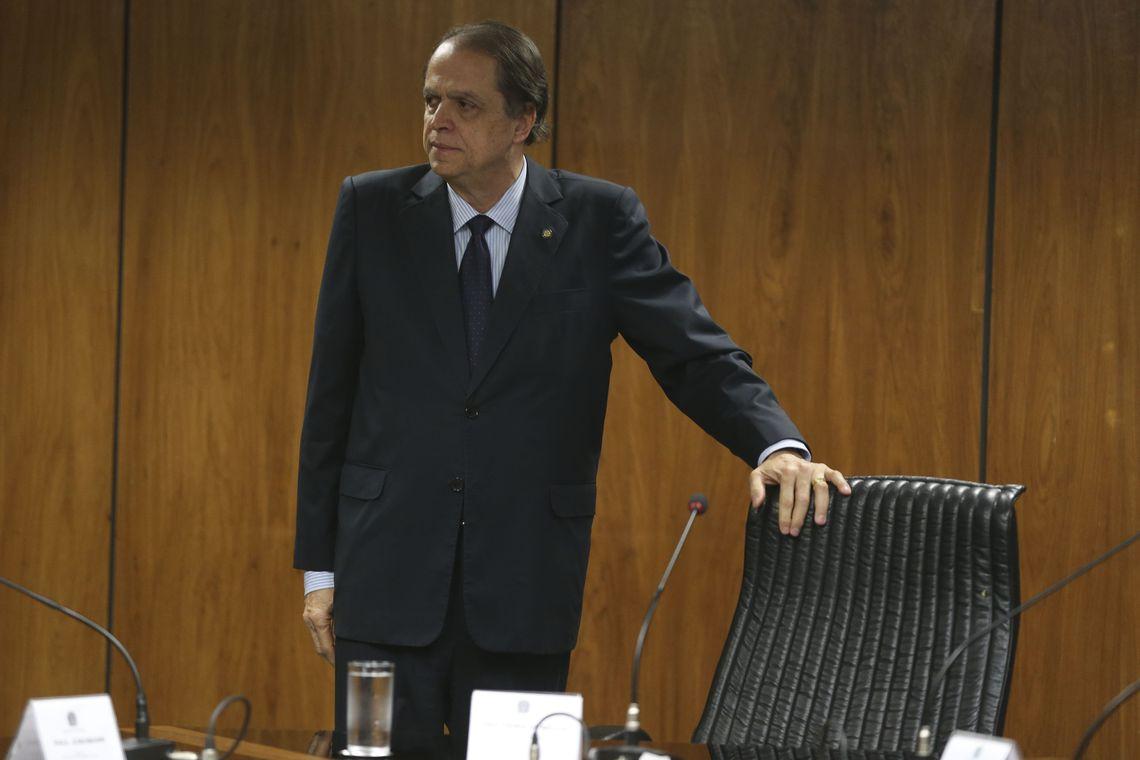 O  ministro  do Trabalho, Caio Vieira de Mello, durante assinatura de acordo de cooperação para fomentar a geração de vagas de trabalho e geração de renda para presos, egressos e pessoas em cumprimento de penas alternativas.