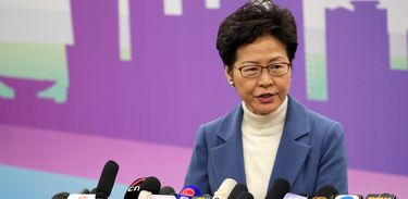 Hong Kong Chief Executive Carrie Lam attends a news conference at the Hong Kong Special Administrative Region (HKSAR) Government office in Beijing, China  December 16, 2019. REUTERS/Jason Lee