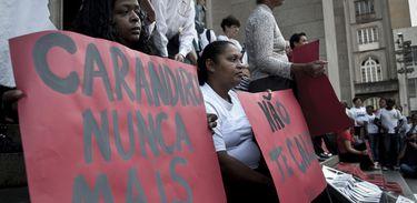Em 2012, protesto em São Paulo lembrou os 20 anos do Massacre do Carandiru
