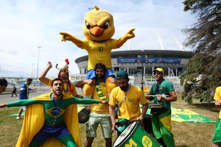 A Seleção Brasileira enfrenta a Costa Rica, às 9h, no Estádio de São Petersburgo, onde, às 9h