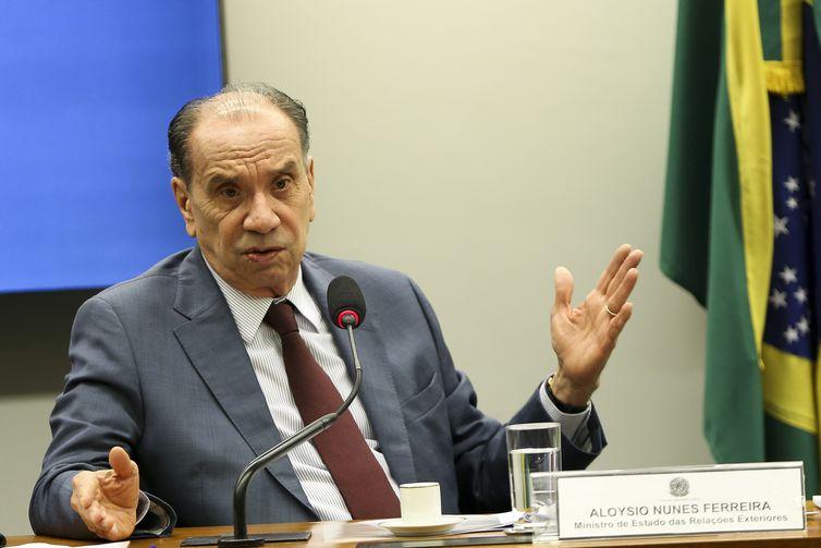- O chanceler Aloysio Nunes, em audiência na Comissão de Relações Exteriores e Defesa Nacional da Câmara  Marcelo Camargo/Agência Brasil
