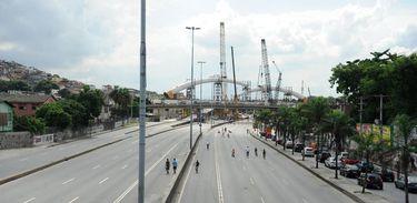 Obras do BRT Transcarioca