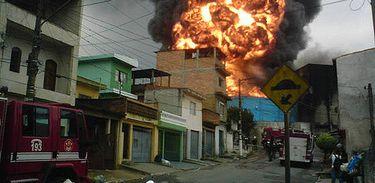 Incêndio residencial