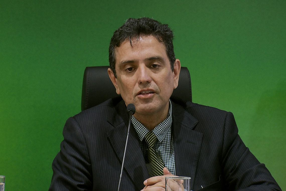 O secretário de Previdência, Leonardo Rolim, fala sobre a proposta de reforma da Previdência, durante entrevista coletiva.