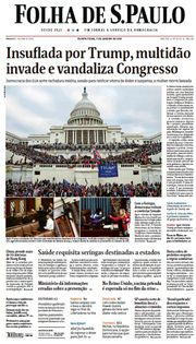 Capa do Jornal Folha de S. Paulo Edição 2021-01-07