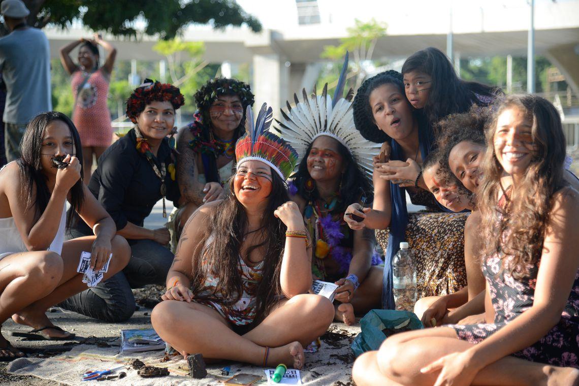 Rio de Janeiro - Na Aldeia Maracanã, representantes de diversas etnias participam de atividades especiais para lembrar o Dia do Índio (Tomaz Silva/Agência Brasil)