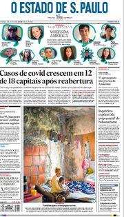 Capa do Jornal O Estado de S. Paulo Edição 2020-07-05