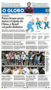 Capa do Jornal O Globo Edição 2021-04-22