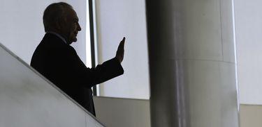 Presidente Michel Temer durante encontro com servidores da Presidência da República, no Palácio do Planalto.