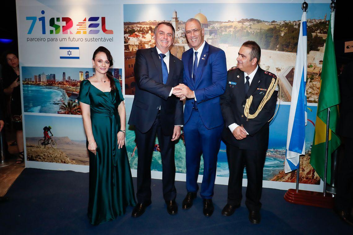 Bolsonaro participa da cerimônia comemorativa dos 71 anos de Israel