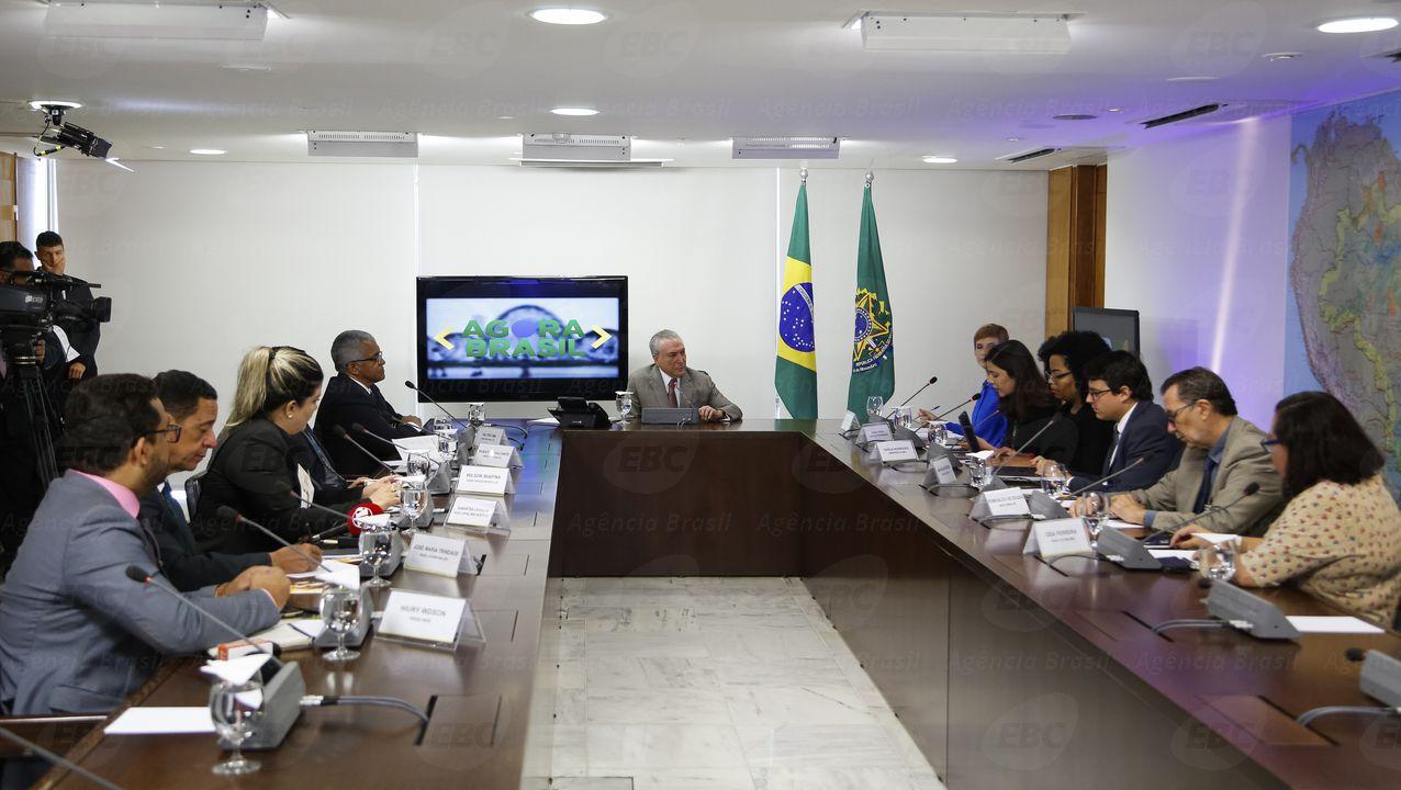 Brasília -  Presidente da República, Michel Temer, concede entrevista para Rádios Regionais (Marcos Correa/PR)