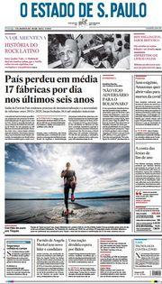 Capa do Jornal O Estado de S. Paulo Edição 2021-01-17