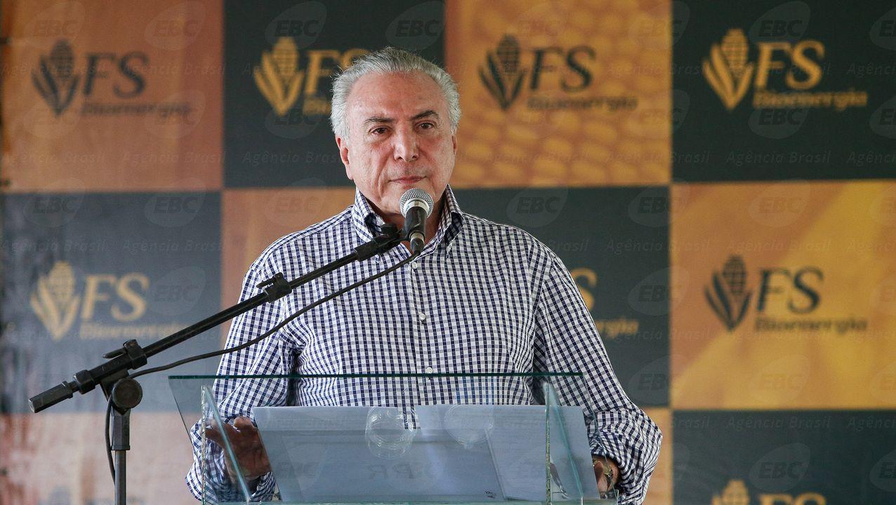 Lucas do Rio Verde (MT) - O presidente Michel Temer participa da cerimônia de inauguração da Usina de Etanol de Milho da FS Bioenergia (Alan Santos/PR)
