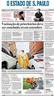 Capa do Jornal O Estado de S. Paulo Edição 2021-04-05
