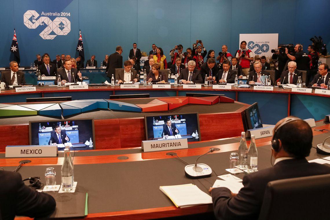 Presidenta Dilma Rousseff durante 1ª Sessão Plenária da Cúpula do G20 (Roberto Stuckert Filho/PR)