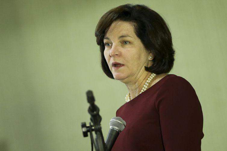 A procuradora-geral da República, Raquel Dodge, durante o III Fórum Jurídico, realizado pela Escola de Magistratura Federal da 1a Região.