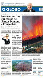 Capa do Jornal O Globo Edição 2021-09-20