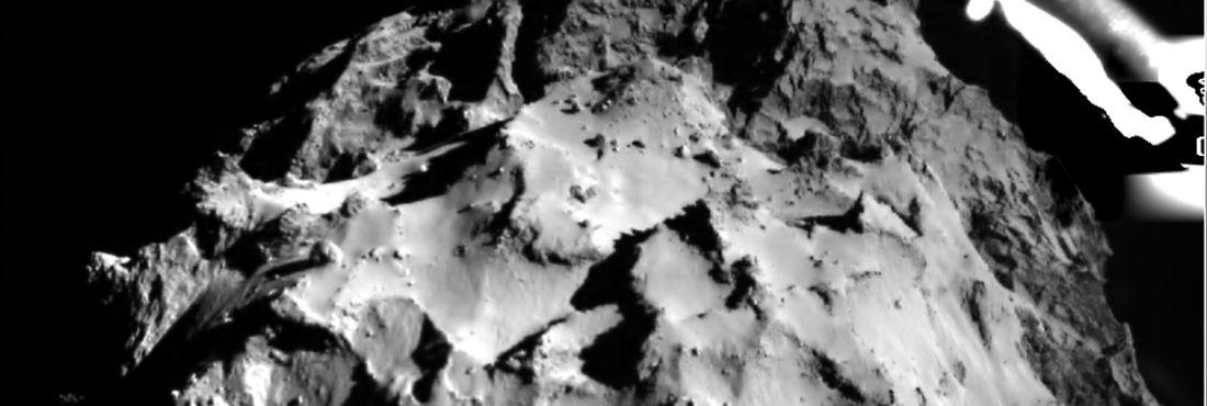 Philae: vista do cometa a partir da sonda na descida