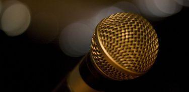 Microfone, música, voz, show