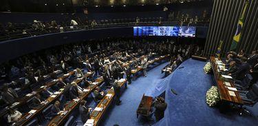 Tem início a segunda reunião preparatória do Senado para eleição do presidente da Casa. Quem preside a reunião é o senador José Maranhão (MDB-PB)