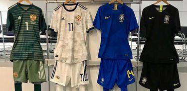 Uniformes Brasil e Rússia