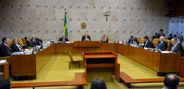 Brasília - Supremo Tribunal Federal (STF) julga como deve ser o rito de tramitação do processo de impeachment da presidente Dilma Rousseff no Congresso Nacional (José Cruz/Agência Brasil)