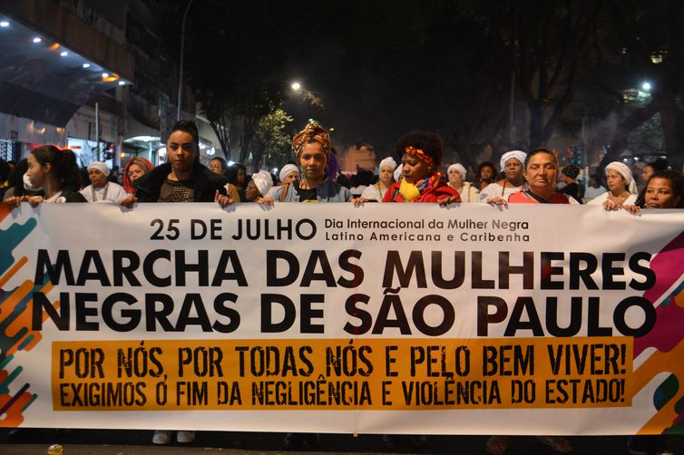 Marcha das Mulheres Negras de São Paulo.