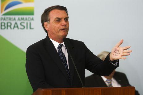 O presidente Jair Bolsonaro,participam do lançamento do programa Médicos pelo Brasil, no Palácio do Planalto.