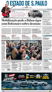 Capa do Jornal O Estado de S. Paulo Edição 2021-04-21
